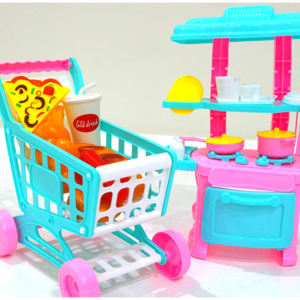 Fashion Mini kitchen, Shopping Cart 72 Pcs Toys For Kids – KidsValley.pk