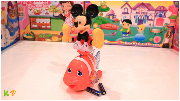 Fish and Mickey Mouse