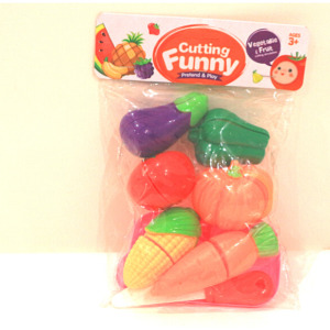 Cutting Funny Pretend And Play, Vegetable And Fruit, Toys For Kids – KidsValley.pk
