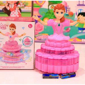 Beautiful Rotating Princess 3D Light Sound Toys For Kids – KidsValley.pk