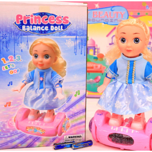 Princess Balance Doll 3D Light Sound Toys For Kids – KidsValley.pk