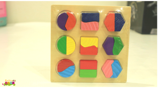 Kids Wooden Geometry Block Puzzle Early Educational Toy