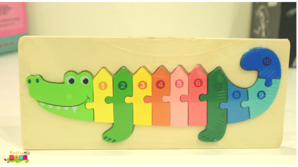 Kid 3D Wooden Puzzle Toy Early Learning Colour Number Learning