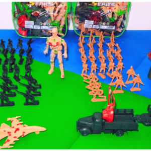 Play Special Force Battlefield Army Military Play Set Toys with Mat, Army Men Action Figures Play Set Toys, Role Play Toys for Boys, Children