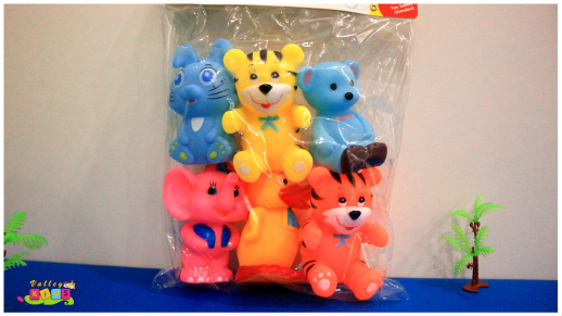 Rubber Sound Toys 6 Pc Set For Kids