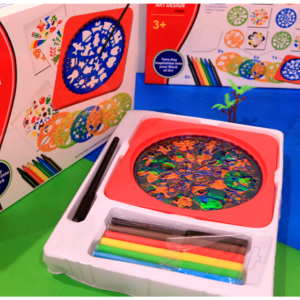 Educational Toys-Mandala Art Design Depict Drawing Board For Kids Toy For Kids – KidsValley.pk