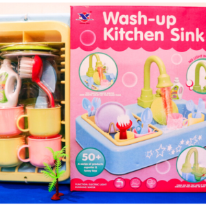 Electric Dishwasher Kitchen Sink with Running Water (19 pcs set) – 14 inches Toys For Kids – KidsValley.pk