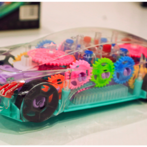Concept Car, 3D Racing Car Toy for Kids with 360 Degree Rotation, Gear Simulation, Music & Flashing Light, Multicolor